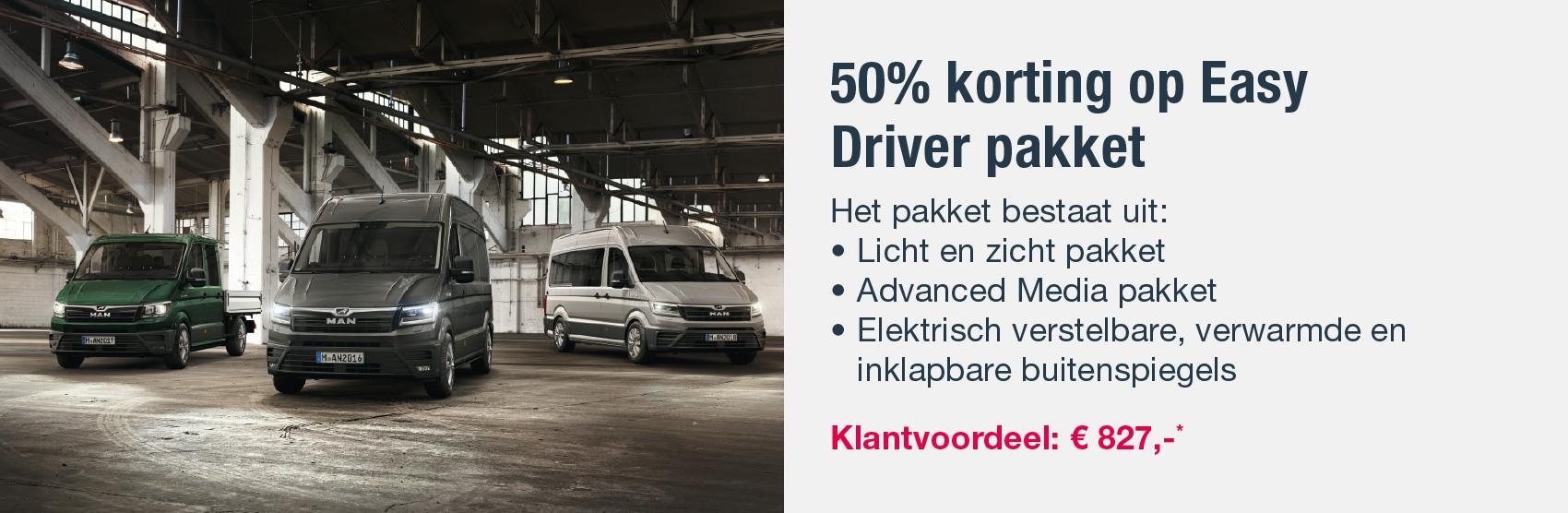 50% korting op Easy Driver pakket